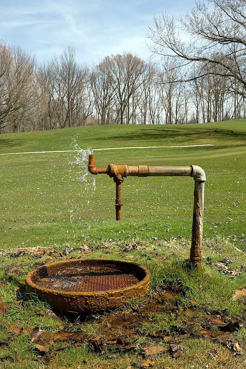 Flowing Well at Culver Academies Golf Course, Culver IN